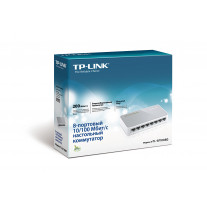8-портовый 10/100 Мбит/с настольный коммутатор TP-LINK TL-SF1008D