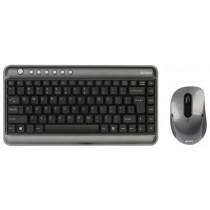 Беспроводной Комплект  A4TECH 7300N Silver-Black USB
