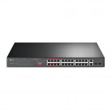 24-портовый неуправляемый 10/100 Мбит/с PoE+ коммутатор с 2 гигабитными портами TP-LINK TL-SL1226P