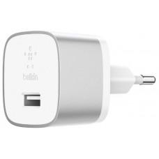 Сетевое ЗУ Belkin Home Quick Charger (18W) USB 3.0A, USB-C, 1.2m, Silver (F7U034vf04-SLV)