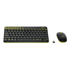 Беспроводная Клавиатура и мышь Logitech MK240 Nano (Black-Yellow, White-Red)