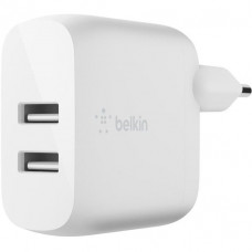 Сетевое ЗУ Belkin  Home Charger (24W) DUAL USB 2.4A, White (WCB002VFWH)