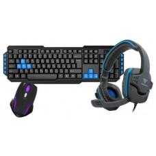 Клавиатура и мышь GAMDIAS POSEIDON E1 Combo Black USB