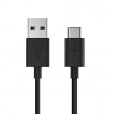 Кабель Belkin USB 2.0 Mixit USB-A / USB-C, 480MBPS, 3A, 1.8m, black (F2CU032bt06-BLK)