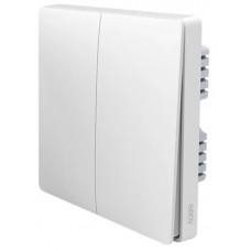 Выключатель настенный Aqara Wall Switch (две клавиши) QBKG03LM