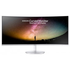 Монитор Samsung C34F791WQI LED Curved Monitor HDMI Ultra WQHD (3440x1440), Silver White