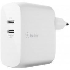 Сетевое ЗУ Belkin 68W USB-C, GAN, 50C/18C, WHT (WCH003vfWH)